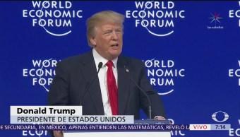 Trump adelanta que su mensaje en Davos será de paz y prosperidad