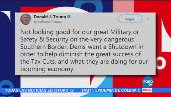 Trump admite que 'no se ve bien' evitar cierre del Gobierno
