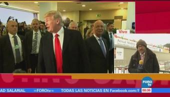 Trump afirma en Davos que Estados Unidos está abierto para los negocios