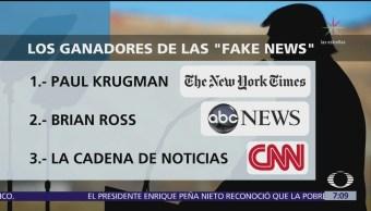 Trump anuncia a los ganadores del premio 'Fake News'