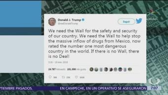 Trump dice que México es el país más peligroso, la SRE responde