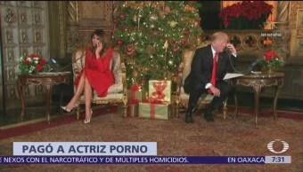 Trump paga a actriz porno para callarla