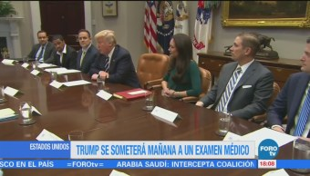 Trump se someterá este viernes a examen médico