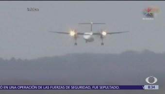 Un avión realiza un impresionante aterrizaje en Alemania