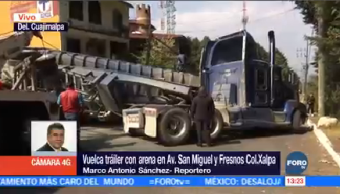 Vuelca Tráiler Arena Cuajimalpa