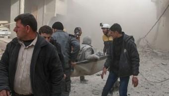 Sube 54 los muertos por ataques contra feudo opositor cerca de Damasco