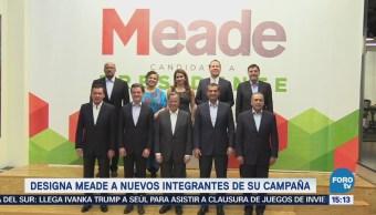 Designa Meade Nuevos Integrantes Campaña