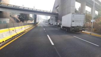 Camión de carga provoca choque múltiple en la autopista México-Toluca