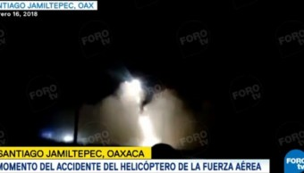 captan momento accidente helicoptero oaxaca