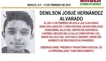 Activan Alerta Ámber para localizar a menor hondureño extraviado en la GAM