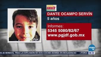 Activan Alerta Amber Desaparición Dante Ocampo Servín