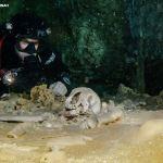 Hallan restos humanos en cueva inundada de Quintana Roo