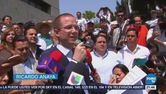 Acude Ricardo Anaya a la PGR