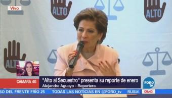 'Alto al Secuestro' presenta reporte de enero 2018, se reducen secuestros