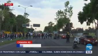 Alumnos Cch Vallejo Manifiestan Avenida Cien Metros