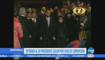 Arrestan Expresidente Guatemala Álvaro Colom