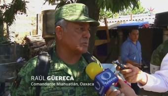 Arriban elementos del Ejército a Jamiltepec, Oaxaca