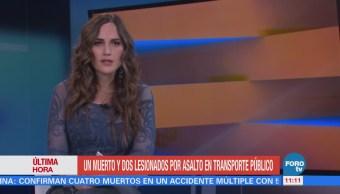 Asalto en transporte público en la México-Puebla deja un muerto y dos lesionados