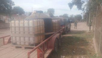 aseguran miles de litros de combustible en aguaruto sinaloa