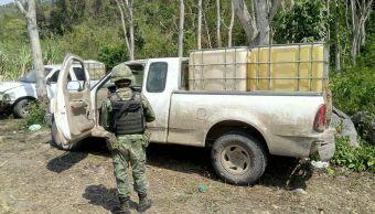 Aseguran en Oaxaca 6 mil litros de combustible robado