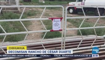 Aseguran rancho de 30 mil hectáreas al exgobernador César Duarte