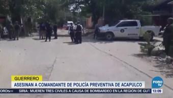 Asesinan a comandante de la Policía Preventiva de Acapulco