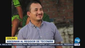 Asesinan en Colima al regidor de Tecomán, Martín Cázares