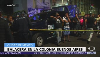 Balacera en la colonia Buenos Aires deja dos muertos