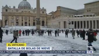 Batalla Bolas Nieve El Vaticano