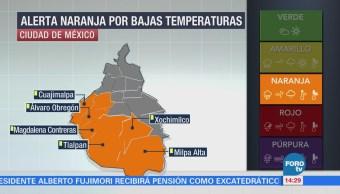 CDMX activa alerta naranja en 6 delegaciones por frío