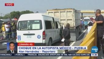 Choque en autopista México-Puebla deja dos muertos