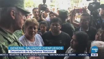 Cienfuegos Zepeda Reúne Deudos Accidente Helicóptero