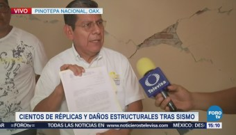 Cientos Réplicas Daños Estructurales Tras Sismo Oaxaca