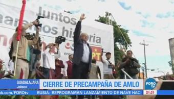 Cierre de precampaña de AMLO en Guadalajara