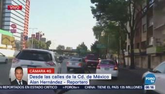 Circuito Interior registra buen desplazamiento vehicular hacia el AICM