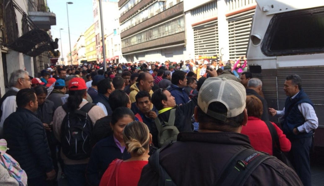 integrantes cnte protestan bucareli congreso nacional snte