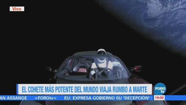 Cohete Spacex Viaja Marte Falcon Heavy