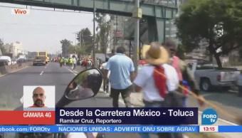 Comuneros Marchan Carretera Federal México Toluca