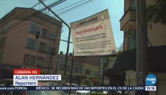 Continúan Labores Demolición Calle Enrique Rébsamen Tras Sismo 19-S