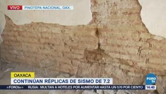 Continúan Réplicas Sismo 7.2 Oaxaca