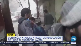 Continúan los bombardeos en Guta, , pese a tregua