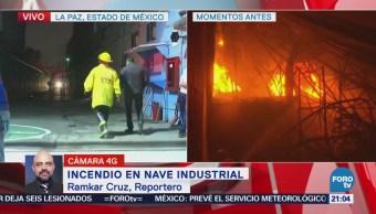 Controlan incendio en nave industrial del Edomex