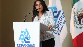 Alejandra Barrales se reúne con empresarios de Coparmex