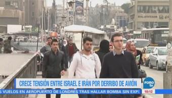 Crece Tensión Entre Israel Irán Derribo Avión