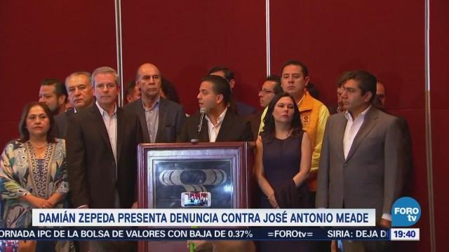 Damián Zepeda Presenta Denuncia Contra Meade