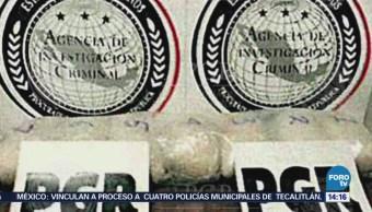 En el Aeropuerto Internacional de la Ciudad de México, elementos de la Policía Federal Ministerial decomisaron droga en dos operativos