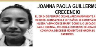 Desactivan Alerta Ámber para localizar a menor extraviada en Coyoacán