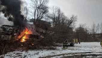 Descarrilamiento tren deja dos heridos Nueva York