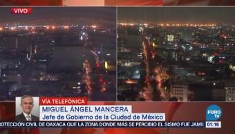 Descarta Mancera anomalías en la CDMX tras sismo