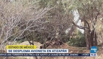 Desploma avioneta en Atizapán, Edomex